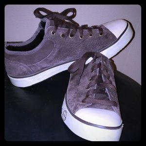 Ugg evera chocolate suede tennis shoes